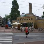 Het oude badhuis op het Javaplein. Nu een gezellig cafe.