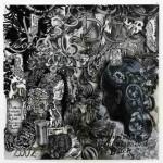 "Hadassah Emmerich -""Abdul Aziz (painter of the Mona Lisa of Bali)"", 2007, gemengde techniek op papier, 110 x 112 cm (foto archief galerie SchauOrt, Christiane Büntgen)"