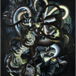 "Hadassah Emmerich -""Glow"", 2007, gemengde techniek op papier, 130 x 110cm (foto Peter Rosemann)"