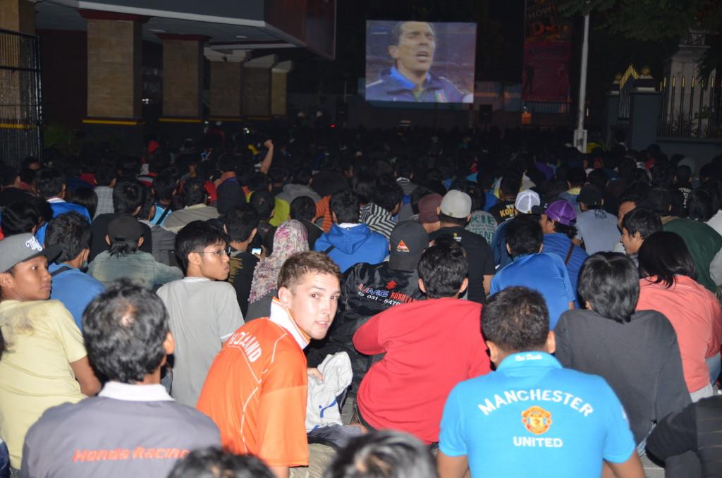 EK finale Spanje - Italie Locatie: RRI Surabaya. Datum: 02/07/2012 Foto: Rennie Roos