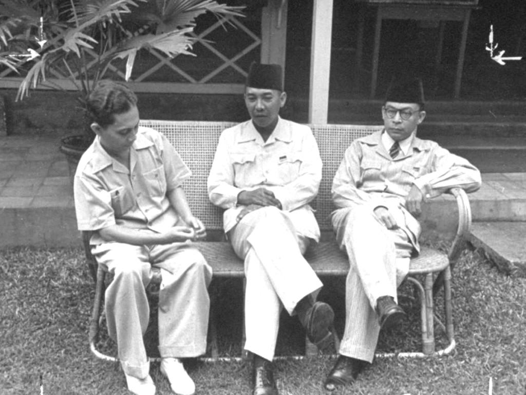 Vlnr: Sjahrir, Soekarno en Hatta. Foto: politik.kompasiana.com
