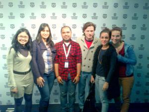 Indisch 3.0 met de crew van Soegija op het IFFR (foto: Angelo Vodegel 2013)