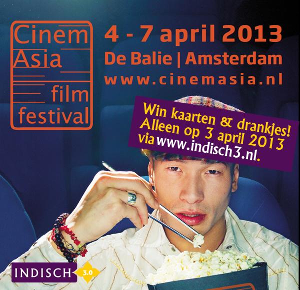 Win arrangement voor een Ind(ones)ische film naar keuze op 7 april a.s., tijdens Cinemasia 2013.