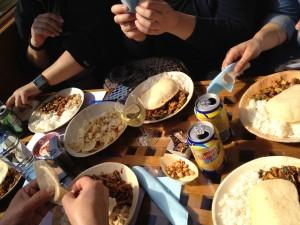 Bij de rondvaart zaten snoeperijen, drinken en een warme maaltijd inbegrepen. Het eten en de service waren top. Eigen foto.