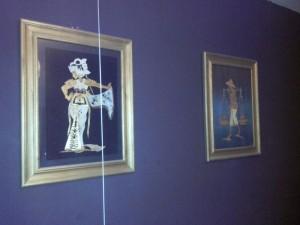 Rieten schilderijen bij Gilbert thuis - Foto: Gilbert Pothoff
