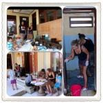 vrijwilligers klussen in kindertehuis