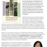 Flyer van de inzamelingsactie 'Opvangen in andijvielucht'