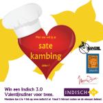 Valentijnsdagactie: met wie wil jij je saté kambing delen?