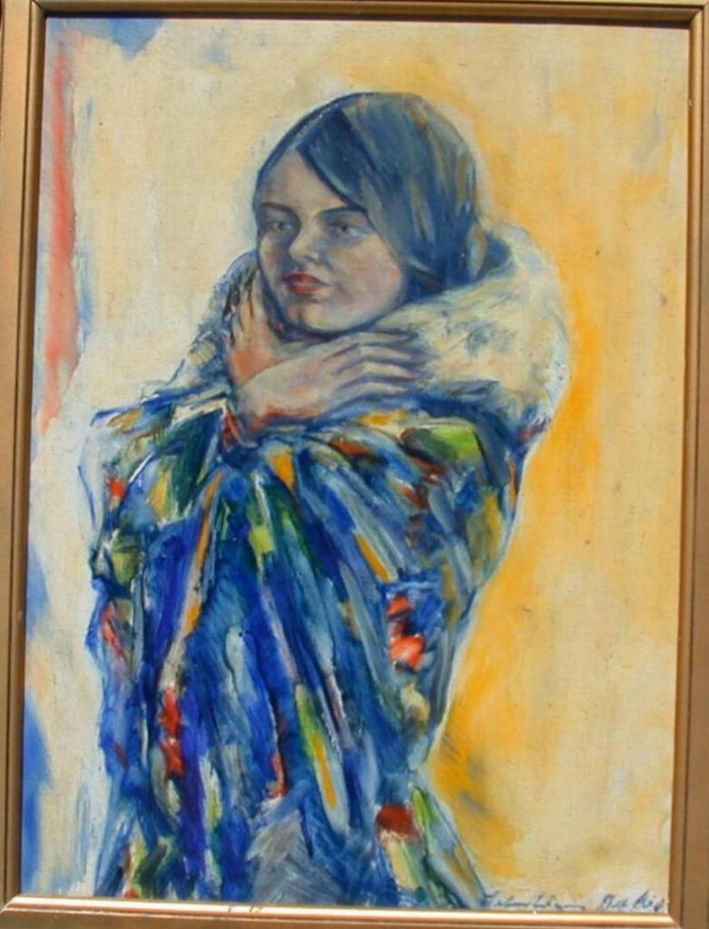 Anda Kerkhoven, geschilderd door Sebastiaan Galis. Bron.