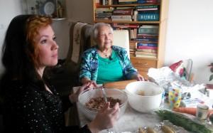Oma en kleindochter Amber.