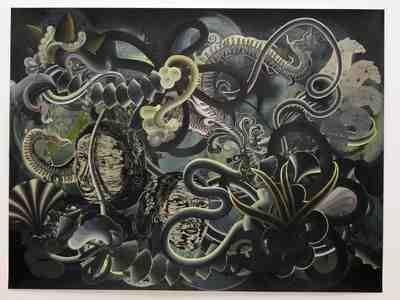 """Hadassah Emmerich -""""Highlights"""", 2008, gemengde techniek op papier, 137 x 190cm (foto Peter Rosemann)"""