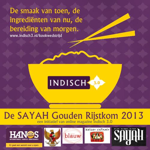 Acht deelnemers voor de SAYAH Gouden Rijstkom 2013